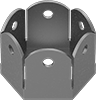 Wire-Lockable Retainers for Hex Head Screws and Nuts