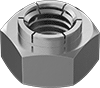 Stainless Steel Extra-Wide Flex-Top Locknuts for Heavy Vibration