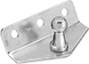 Corrosion-Resistant 30° Angle Ball Stud Mounting Brackets for Gas Springs