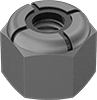 Mil. Spec. Low-Strength Steel Nylon-Insert Locknuts