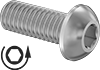 Left-Hand Threaded Button Head Screws