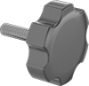 Metric Large-Grip Plastic-Head Thumb Screws