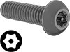 Metric Alloy Steel Tamper-Resistant Button Head Torx Screws
