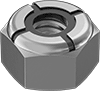 Mil. Spec. 18-8 Stainless Steel Nylon-Insert Locknuts