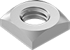 Metric Low-Strength Steel Thin Square Nuts