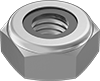 Super-Corrosion-Resistant 316 Stainless Steel Thin Nylon-Insert Locknuts