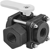Easy-Maintenance Threaded Diverting Valves for Chemicals