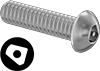 Tamper-Resistant Asymmetrical Drive Button Head Screws