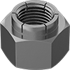 Mil. Spec. Steel Flex-Top Locknuts for Heavy Vibration