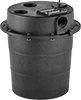 Sump Pumps with Basin for Water with Small Solids