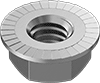 Medium-Strength Steel Serrated Flange Locknuts—Grade 5