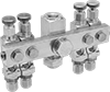 Flow-Adjustment Valve Manifolds for Sealed Systems