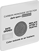 Stick-On Carbon Monoxide Indicators