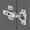 Hold-Closed Half-Mortise Concealed Cabinet Hinges