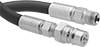 Hydraulic Hose with Quick-Disconnect Plug and Threaded Male Fitting