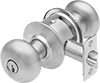 Key- and Button-Locking Door Knobs