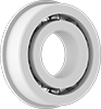 Lubrication-Free Plastic Flanged Ball Bearings