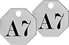 Made-to-Order Identically Numbered and Lettered Metal Tags