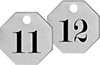 Made-to-Order Sequentially Numbered Metal Tags