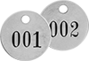 Sequentially Numbered Metal Tags