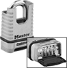Weather- and Cut-Resistant Resettable Combination Padlocks