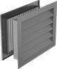 Fixed-Blade Wall Louvers with Adjustable Register