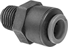Check Valves with Push-to-Connect Fittings for Harsh Chemicals