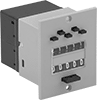 Panel-Mount Electrically Actuated Counters with Output Relay