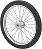 Spoked Hollow-Tread Flat-Free Wheels
