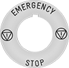 Plastic Legend Plates for Emergency Stop Switches