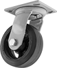 Trash-Container Casters with Rubber Wheels