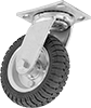 Hollow-Tread Flat-Free Casters with Rubber Wheels