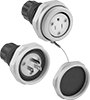 Harsh Environment Straight-Blade Plugs, Sockets, and Receptacles