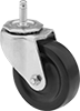 Friction-Grip Stem Casters with Rubber Wheels
