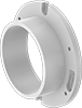 Aboveground Standard-Wall PVC Pipe Flanges for Drain, Waste, and Vent