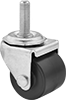 Low-Profile Threaded-Stem Casters with Polypropylene Wheels