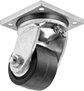 High-Capacity Debris-Guard Casters with Polyurethane Wheels