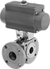 Flanged Air-Driven Diverting Valves