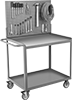 Steel Workstation Pegboard Carts