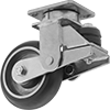 High-Capacity Shock-Absorbing Casters with Polyurethane Wheels