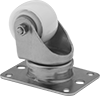 Plate Casters with Nylon Wheels