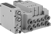 Modular Air Directional Control Valves with Air and Electrical Manifolds