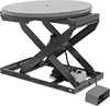 Turntable-Top Electric Stationary Lift Tables