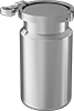Quick-Clamp Stainless Steel Bottles