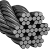 Corrosion-Resistant Wire Rope—Not for Lifting