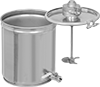 Air-Powered Mixers with Batch Cans