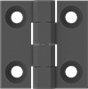 Metal-Detectable Hinges with Holes