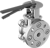 Ceramic Flanged Flow-Adjustment Valves