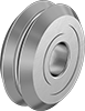 Sanitary Shaft-Mount V-Groove Track Rollers
