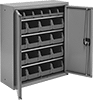Wall-Mount Bin-Box Cabinets with Shelves
